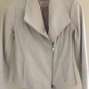 Authentic Vince Scuba Leather Jacket - Small